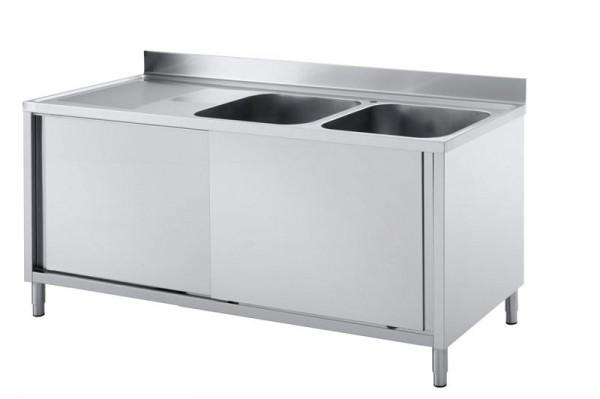 Mobile lavello GGG 1800x600x850mm, 2 vasche dx ...